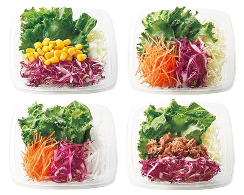 各コースとセットで、サラダのご注文ができます(サラダ単品の注文はできません)。全11種類から一品を日替わりでお届けします。