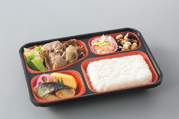 ご飯付きのコースでご飯は150gです。ご飯大盛り(200g) の「お弁当(大)コース」もございます。(おかずの量は「お弁当コース」と同じです)