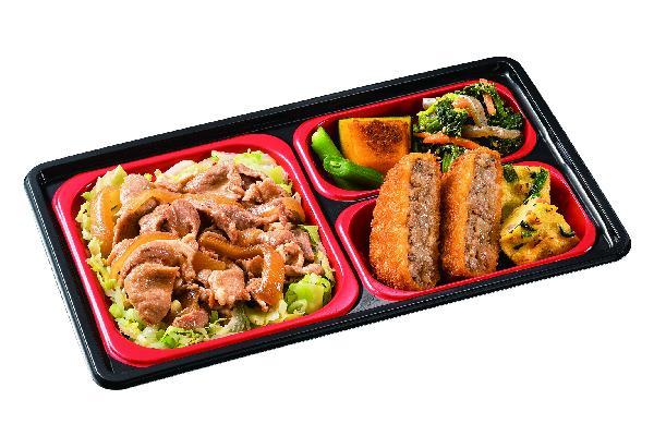 舞菜おかずに比べ、主菜にボリュームがあり、しっかりとした食感と味付けのおかずコースです。